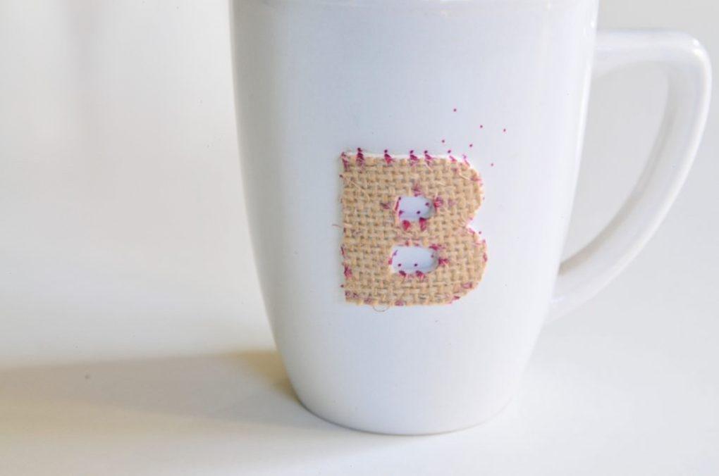 detail on diy sharpie mug stillpling dot effect