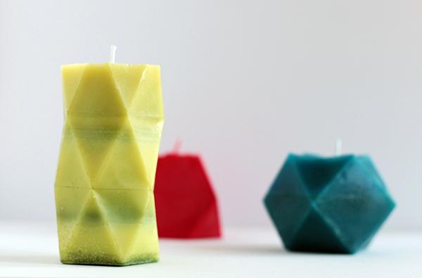 geometric shaped candles tutorial