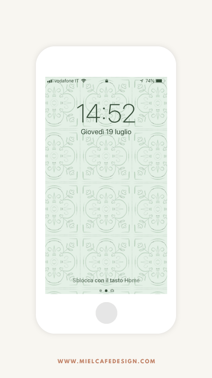 Vintage Tiles Phone Wallpaper Mint Green Free Download