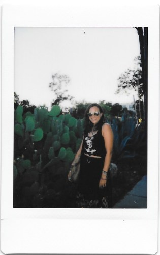 michelle with cactus austin tx polaroid instax mini 9