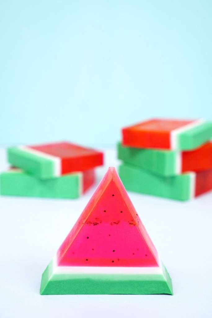 Cute-Watermelon-Soaps-Quick-and-Easy-DIY-Craft-Project