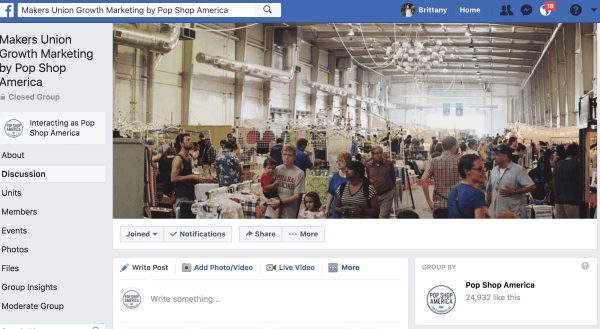 Pop shop america facebook group on seo and marketing