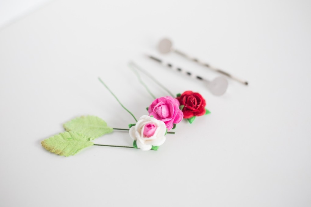 supplies to make teeny tiny diy flower barrettes pop shop america