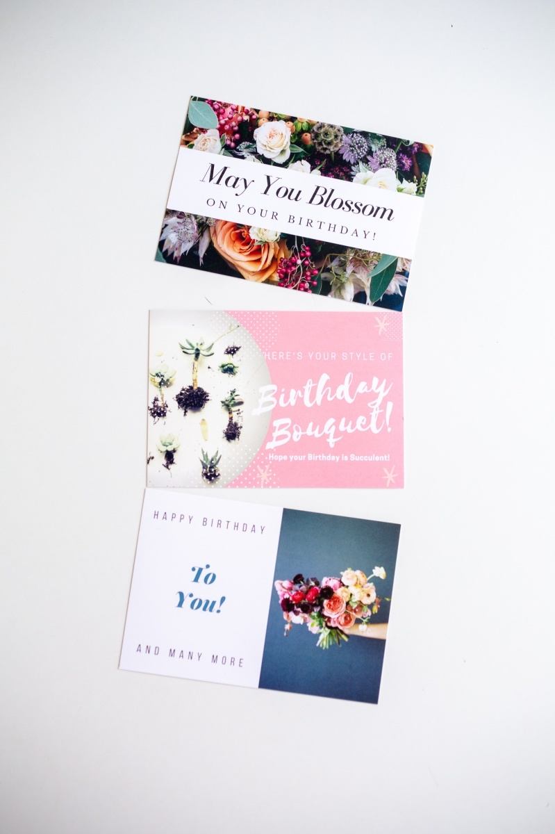 These Free Succulents Flowers Birthday Cards Are Best Printed On Card Stock So They Thick And Professional I Would Not Recommend Printing Them