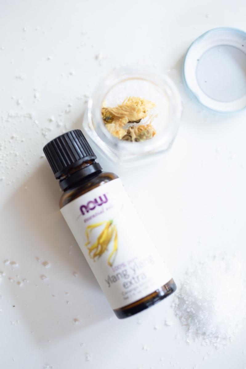 chamomile and ylang ylang bath soak