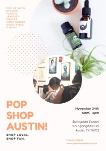 pop shop austin handmade shopping november 24th