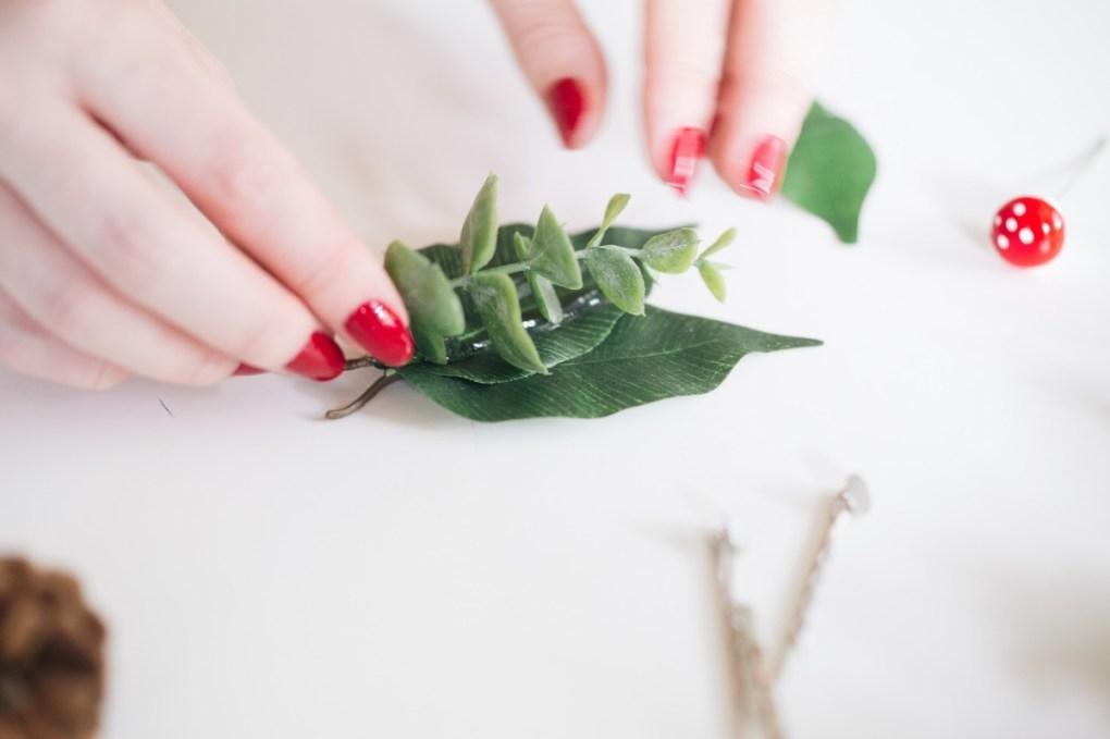 glue the succulent to the barrette pop shop america