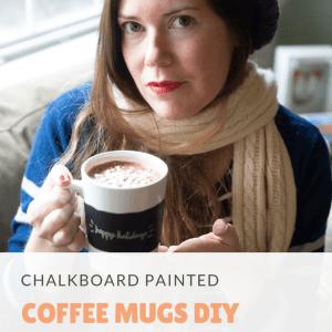 chalkboard painted coffee mugs diy pop shop america