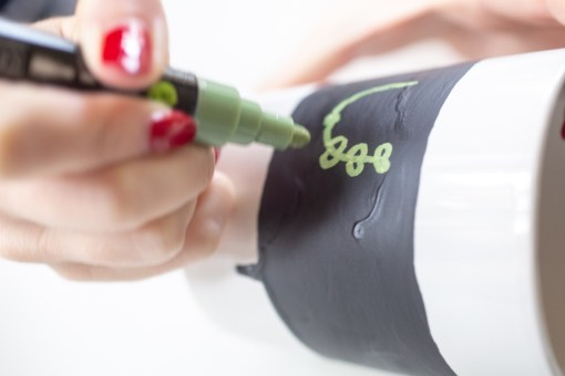 detail of ivy in chalk lettering pop shop america diy
