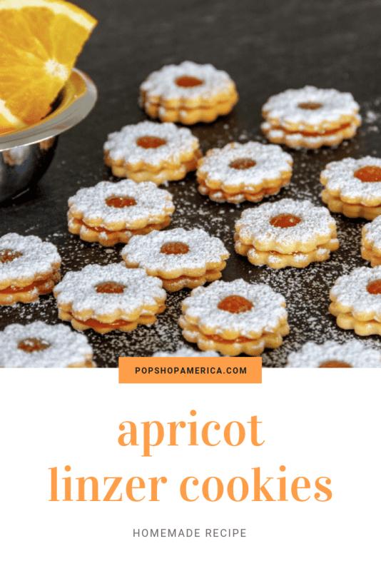 apricot linzer cookies pop shop america