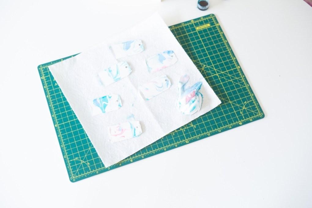 finished marbled paper gift tags pop shop america diy blog