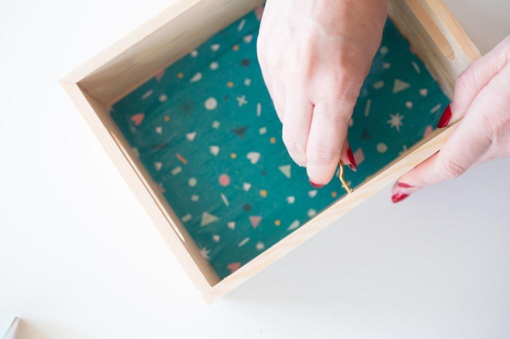 how to attach a c hook to the wooden box desk calendar pop shop america