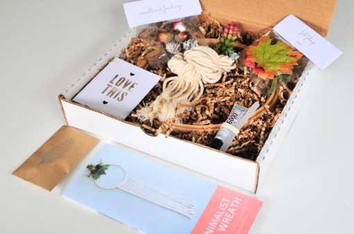 minimalist fall wreath diy kit in box pop shop america