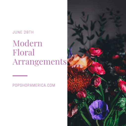 modern floral arrangements gardening craft class houston