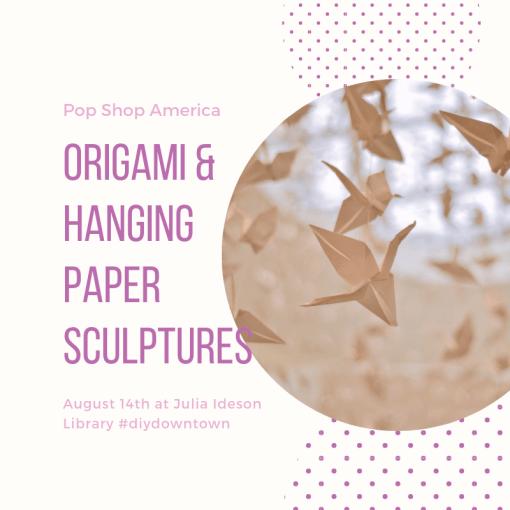 origami and hanging sculptures art class pop shop america