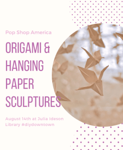 origami and hanging sculptures art class pop shop america