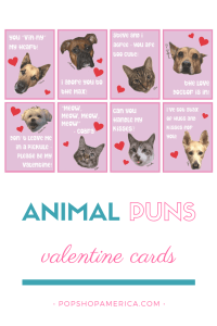animal puns printable valentine cards pop shop america