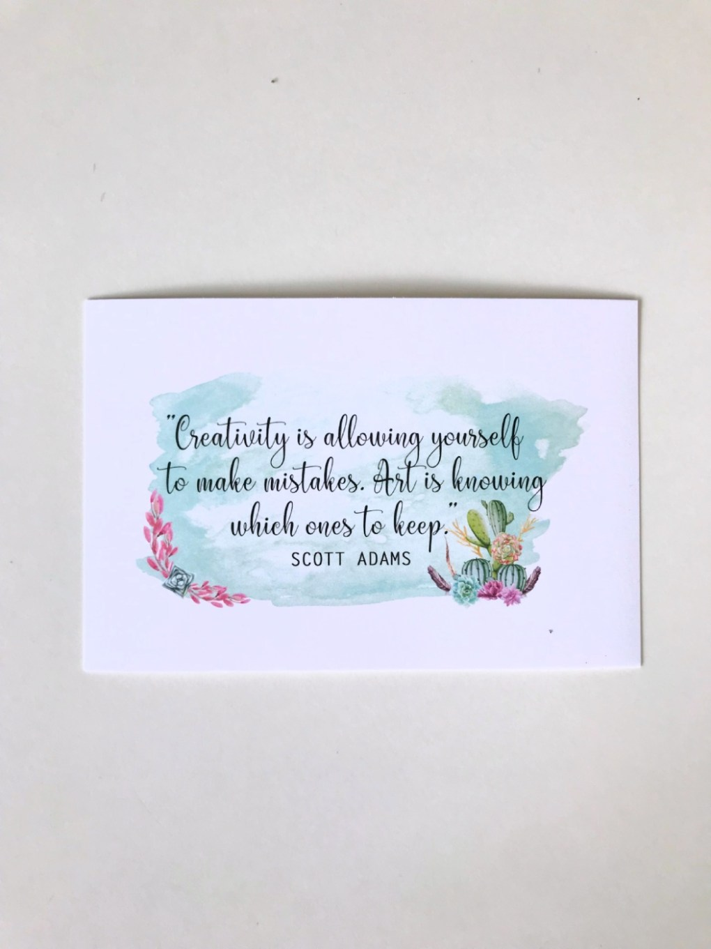 creativity quote in watercolor - free art printable pop shop america