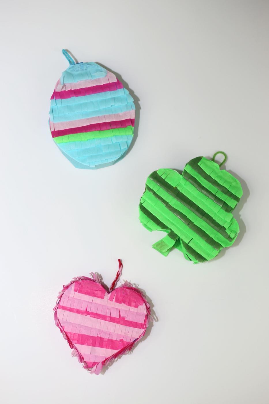egg shamrock and heart pinata diy craft tutorial pop shop america
