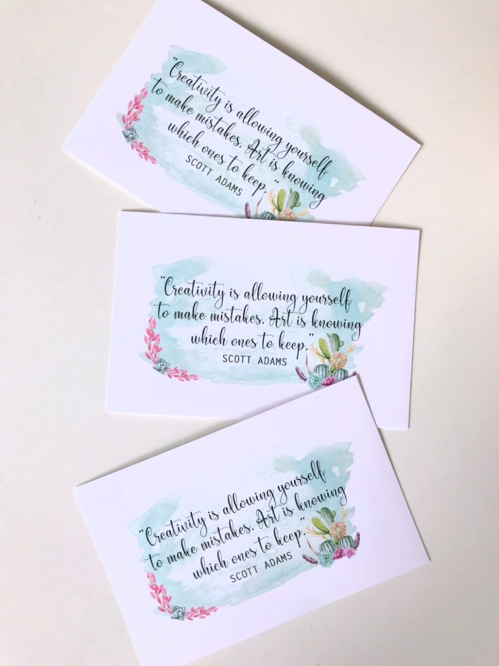 free quote watercolor printable about creativity
