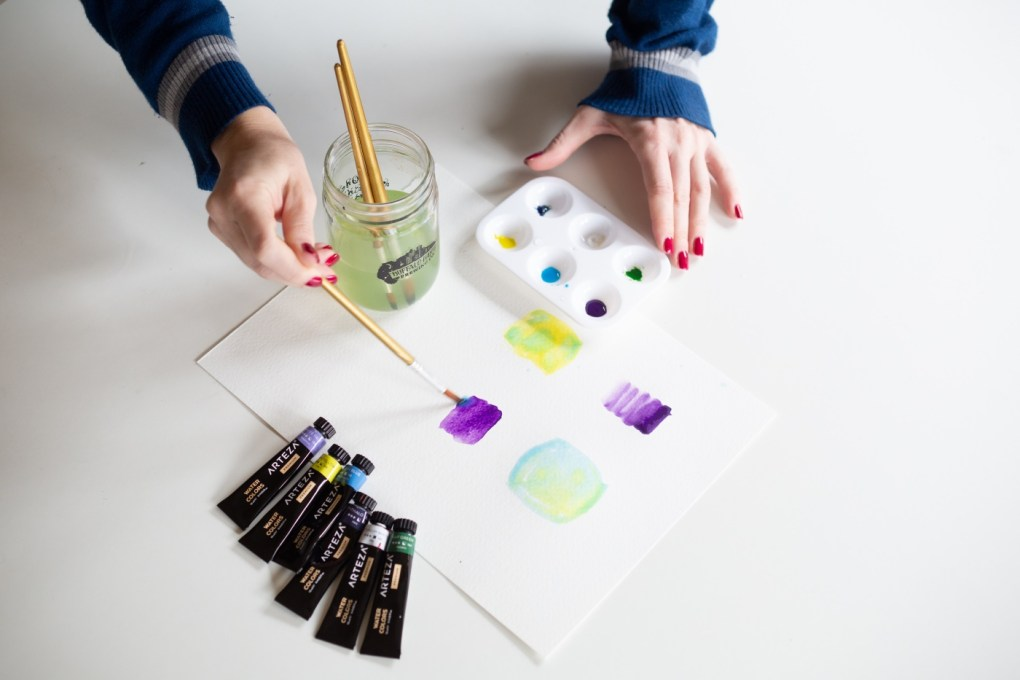 how to blend two colors with watercolor craft in style instructions pop shop america