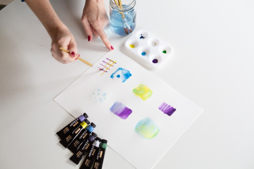 how to paint with watercolor controlled color blending pop shop america