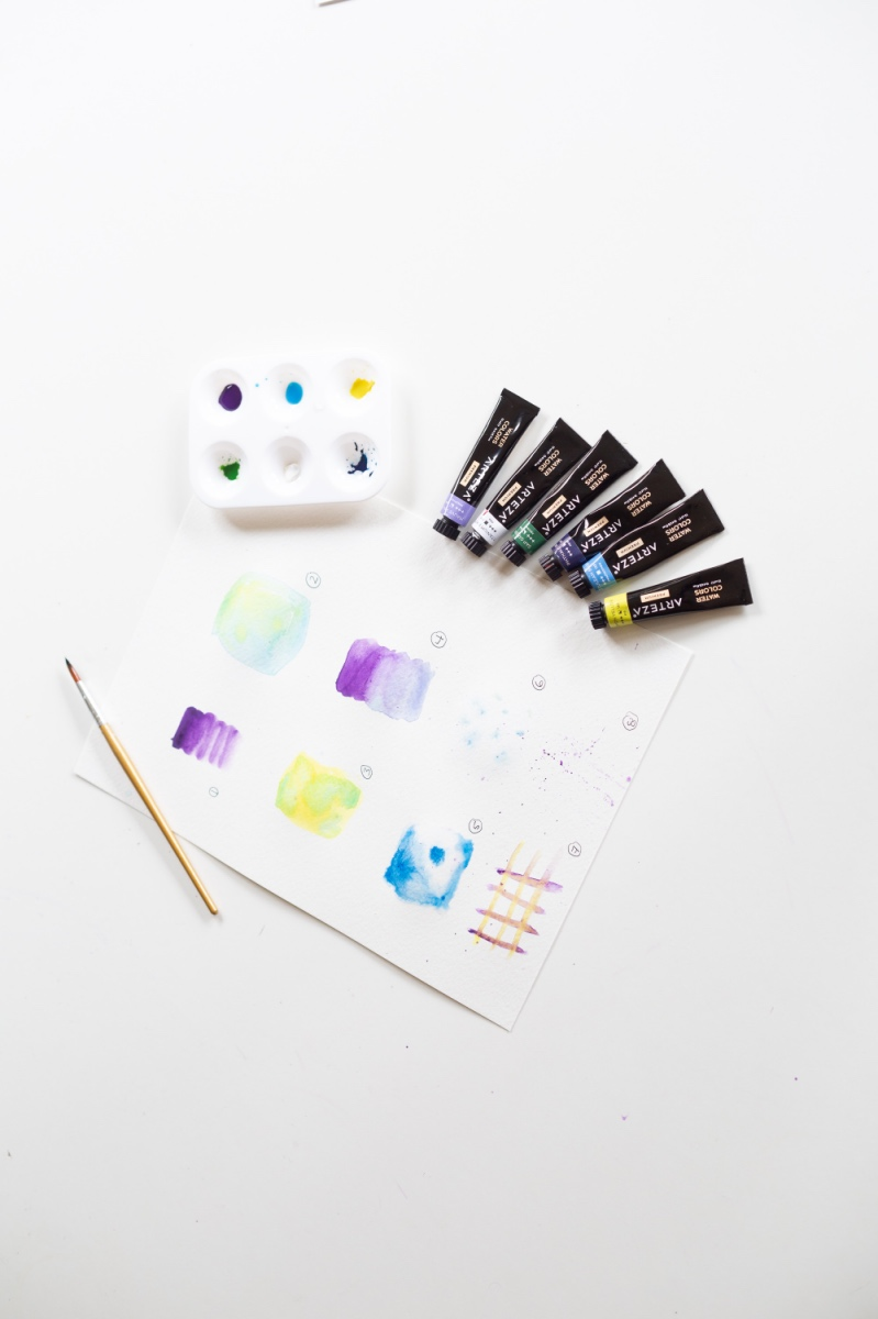 watercolor craft supplies inside the craft in style subscription box