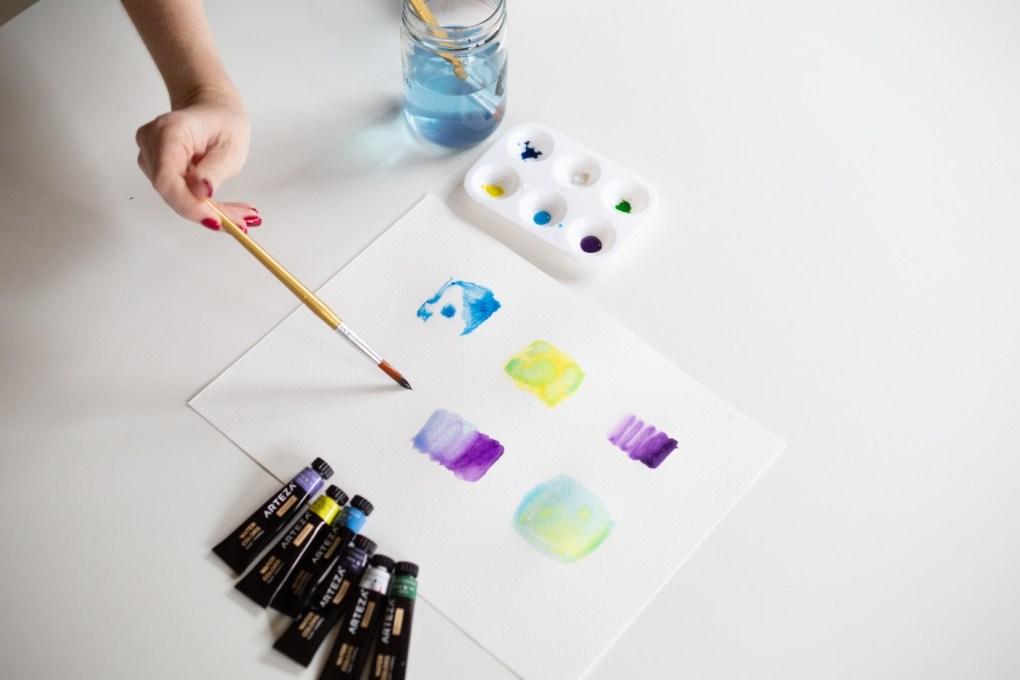 watercolor painting on wet paper - blending techniques