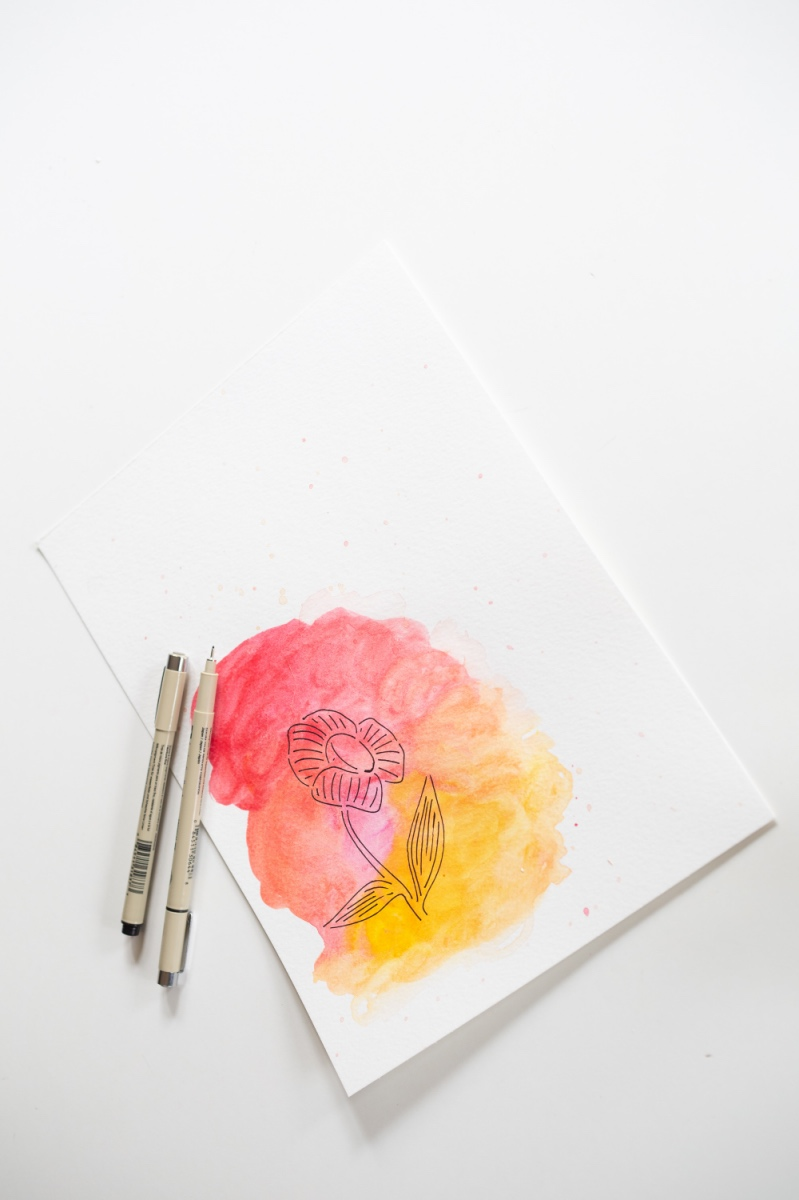 watercolor stenciling idea from the craft in style subscription box pop shop america