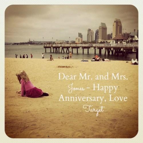 Dear Mr. and Mrs. Jones Happy Anniversary