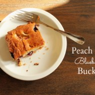 Peach and Blueberry Buckle