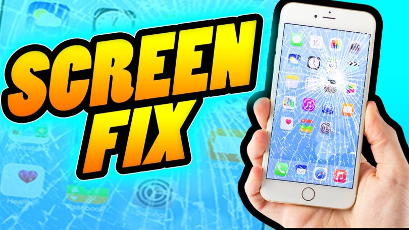 how to fix a cracked phone screen with tape