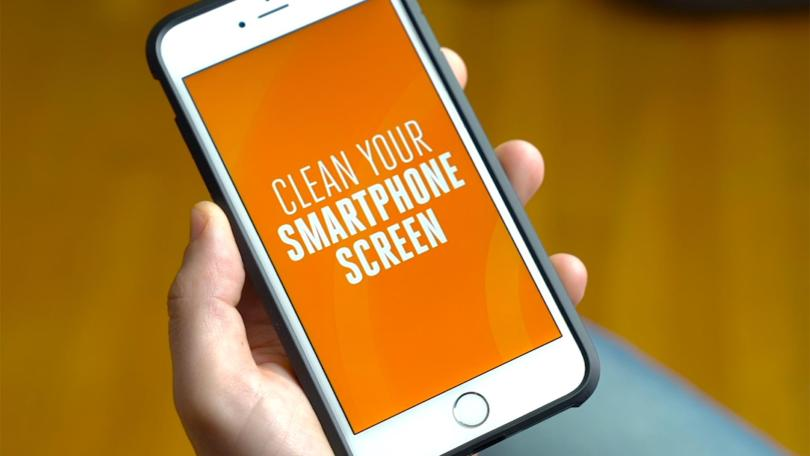 how to clean mobile phone touch screen