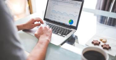 successful business person with online trading