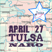 Tulsa NARO conference map with star