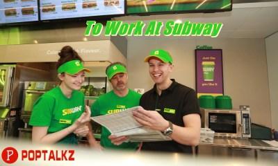 To Work At Subway