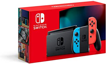 Amazon Nintendo Switch Neon Blue Red Coupon Promo Code
