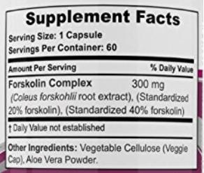 Forskolin Extreme ingredients
