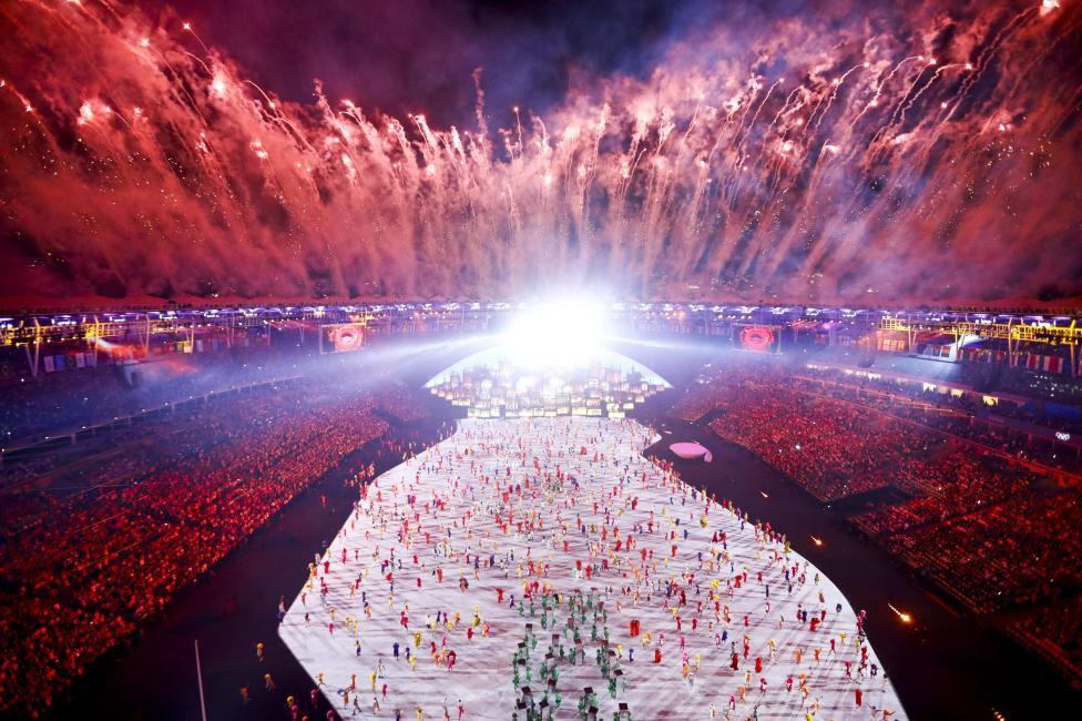 Fireworks explode. REUTERS/Pawel Kopczynski