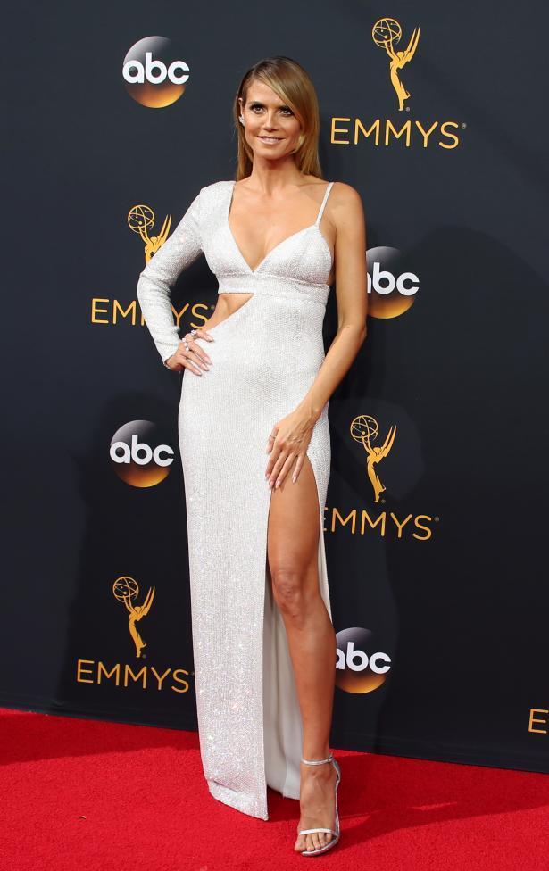 "Heidi Klum, host of Lifetime's ""Project Runway"". REUTERS/Lucy Nicholson"