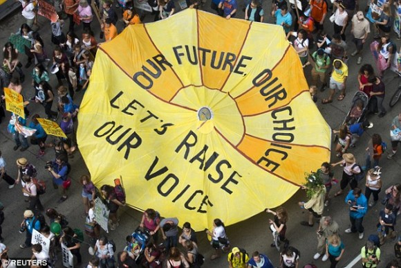 Climate Our Future from People's Climate March by Reuters.