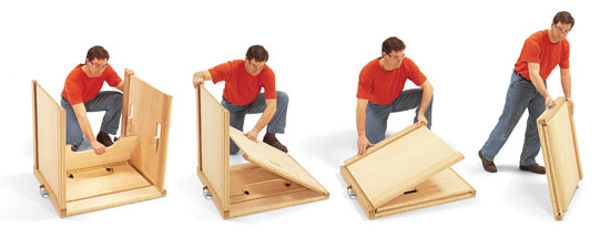 Heavy Duty Folding Work Table Popular Woodworking Magazine