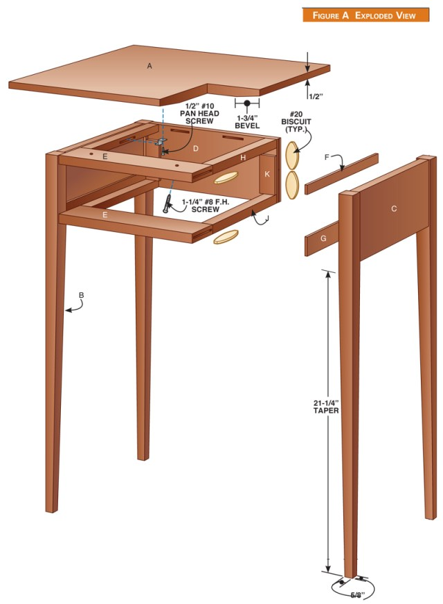 woodworking projects bedside table | Online Woodworking Plans