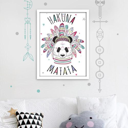 Cadre Dco Panda Hakuna Matata