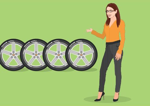 Kako izbrati nove pnevmatike za večjo var(č)nost / PorabimanjINFO / Ilustracija: Branko Baćović