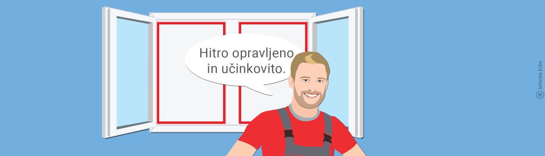 Zatesnitev oken zmanjša toplotne izgube/ PorabimanjINFO/ Ilustracija: Branko Baćović