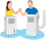 Hladilec zraka VS prenosna klima / PorabimanjINFO