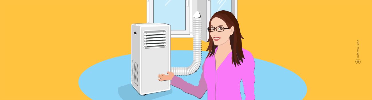 Kako delujejo prenosne klimatske naprave / Porabimanj INFO / Ilustracija: Branko Baćović
