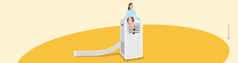 4 prednosti prenosne klimatske naprave / PorabimanjINFO / Ilustracija: Branko Baćović
