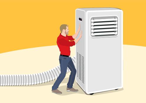 Slabosti prenosne klimatske naprave / Porabimanj INFO / Ilustracija: Branko Baćović
